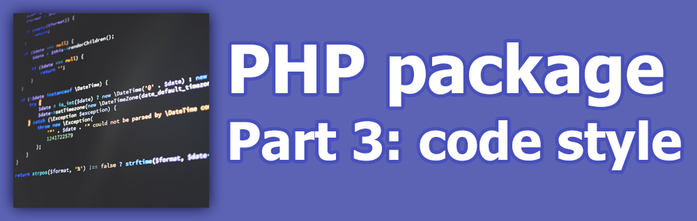 PHP package. Part 3: Code style